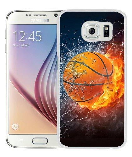 new concept 7e1f1 a31dd Amazon.com: Samsung Galaxy S6 Case - Custom Basketball Hard Plastic ...