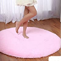Princess Dream Round Shaggy Area Rugs and Carpet Super...