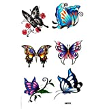 Watertight colorful fake tattoos insects butterfly by LuTech