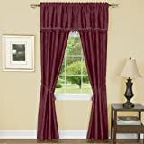 Cheap Achim Home Furnishings Harrison Curtain in a Bag Full Blackout Window Solution, Burgundy, 55 x 84-Inch