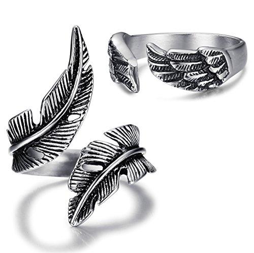 angel wings ring - 8