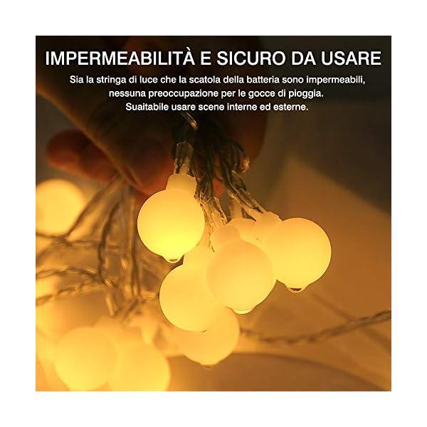 Catena Luminosa con Ganci Stringa Luci LED a Batteria o USB 100 LED 10M 8 Modi Ghirlanda Luminosa Lampadina Impermeabile con Telecomando per Cortile Casa Festa Matrimonio Natale 5 spesavip