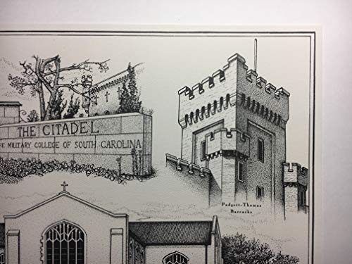 Citadel - hand-drawn pen and ink print by Campus Scenes (Image #3)