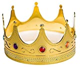 Adorox Gold Royal King Plastic Crown Prince Costume Accessory Adult/K Kid