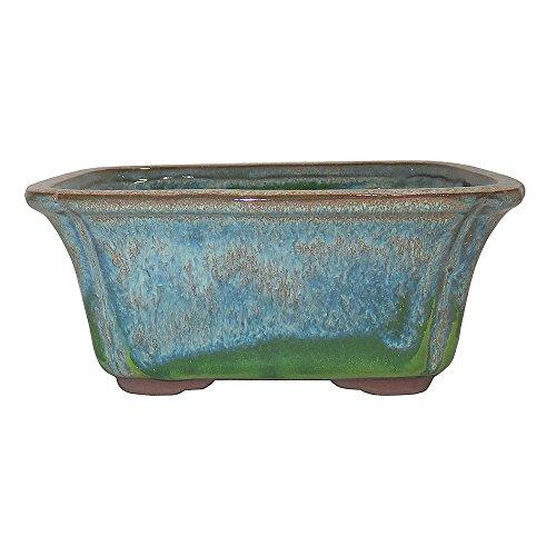 Brussel's Bonsai CGG58-6STG+BE Rectangle Glazed Ceramic Pot, 6