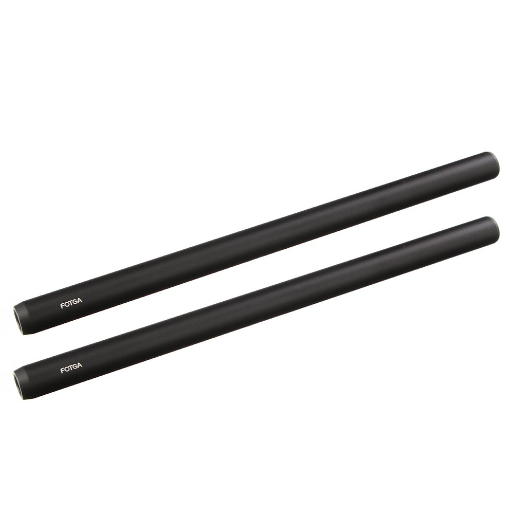 Fotga DP500 III 10''/250mm 15mm Dia Aluminium Alloy Rod with Joint Adapter Screw for 15mm Rail Rod Rig System Extension Follow Focus Matte Box