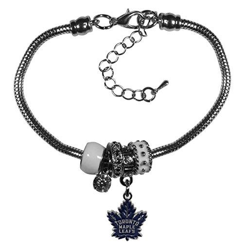NHL Toronto Maple Leafs Euro Bead Bracelet, (Toronto Maple Leafs Bracelets)