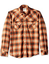 Ariat Wagnor - Camisa de manga larga para hombre, estilo retro, talla S