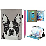iPad Pro Case 10.5'', Auto Sleep & Wake Function Protective Flip Painting Wallet Case PU Leather Kickstand Cover Soft TPU Interior Magnetic Shell with Stylus Pen for iPad Pro 10.5 by Badalink - Dog