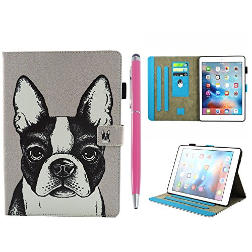 iPad Pro Case 10.5'', Auto Sleep & Wake Function Protective Flip Painting Wallet Case PU Leather Kickstand Cover Soft TPU Interior Magnetic Shell with Stylus Pen for iPad Pro 10.5 by Badalink - Dog by Badalink (Image #7)