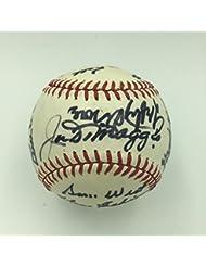 Joe Dimaggio Elston Howard Lefty Grove Hall Of Fame Signed Baseball PSA DNA COA