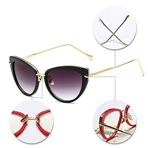 Gafas Mujer de gato la UV400 tamaño Gafas de Vendimia Estilo Caliente Vendible las Gran de Alta del sol de sol de Calidad KINDOYO 02 Ojo de nT1C7Xq