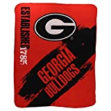 "NCAA Collegiate School Logo Fleece Blanket (Georgia Bulldogs, 50"" x 60"")"