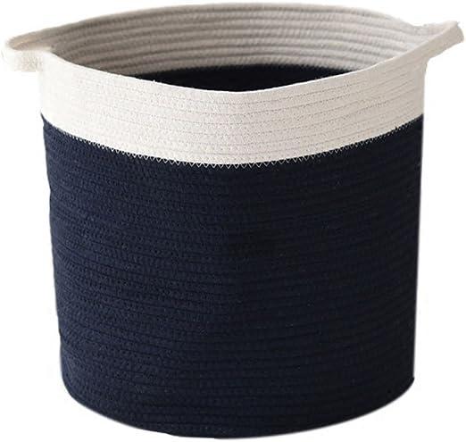 sfghouse algodón cuerda tejida Almacenamiento Cesta papelera ...
