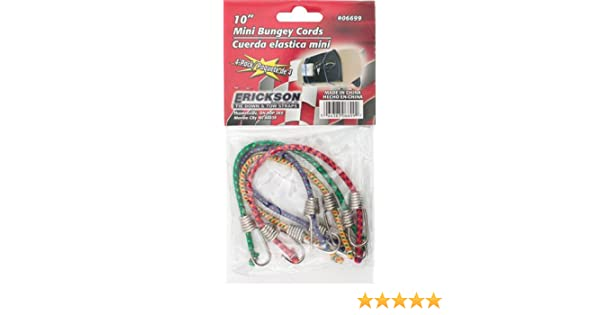 "Erickson 4Pk 10/"" Mini Bungey Cord"