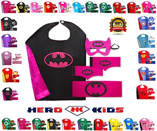 Batgirl Tshirt Costumes (Black-Pink BatGirl)