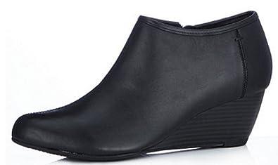 207b10b4a0d Clarks Brielle Abby Wedge Bootie - Black - UK 3 D - Standard Fit ...