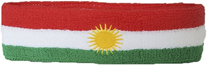 Flaggenfritze Stirnband Motiv Fahne//Flagge Kurdistan gratis Aufkleber