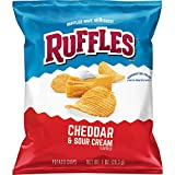 Ruffles Potato Chips, Cheddar Sour Cream, 1oz (40 Count)