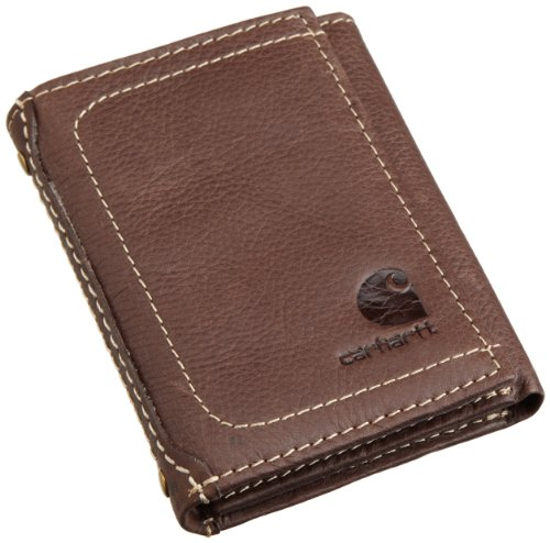 Carhartt Men's Trifold Wallet, Pebble Brown, One Size ()