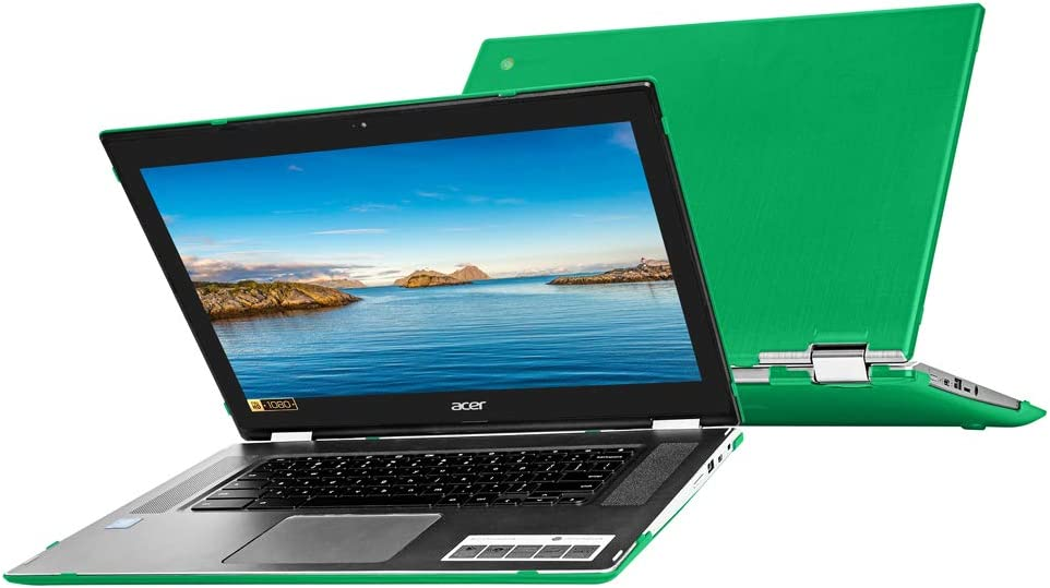 """mCover Hard Shell Case for 15.6"""" Acer Chromebook Spin 15 CP315 Series (NOT Compatible with Older C910 / CB5-571 / CB3-531 / CB515 Series) Convertible Laptop (Green)"""