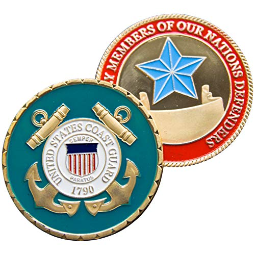 Art Crafter USCG United States Coast Guard Challenge Coin Guard Badge-Proud of Family Members of Nations Departments ()