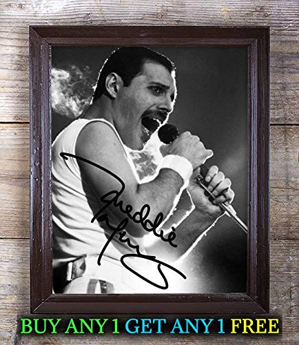 Freddie Mercury College Gameday (Football) Autographed 8x10 Photo Reprint #35 Special Unique Gifts Ideas Him Her Best Friends Birthday Christmas Xmas Valentines Anniversary Fathers Mothers Day