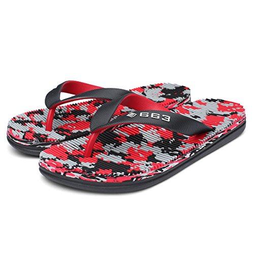 Cior Tweekleurige Sandaal Slippers Zomer Slippers Voor Heren Dames Rood01