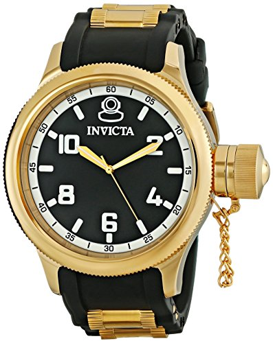Invicta Men's Russian Diver 18k Black/Gold Ion-Plated Stainless Steel Watch ()
