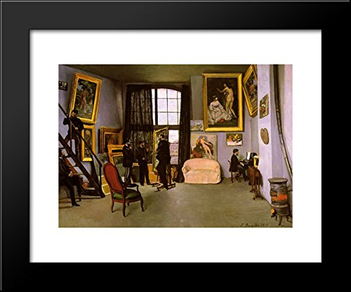 (The Artist's Studio, Rue de la Condamine 20x24 Framed Art Print by Frederic Bazille )