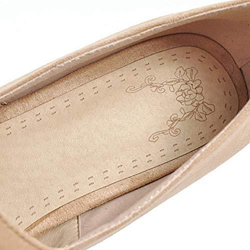 Marron 5 AN Femme Sandales DGU00645 Compensées 36 Abricot IwRaqwf