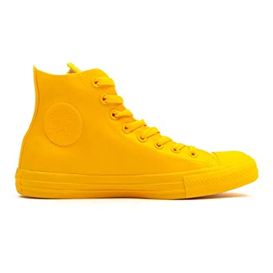 e646c3107fec2 Converse Chuck Taylor All Star pour Femme High Rubber Sneaker Hightop -  Jaune - Moutarde