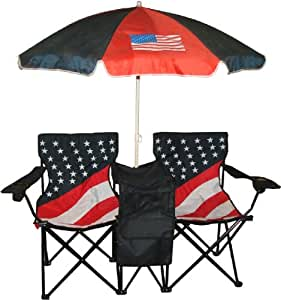 VMI Folding Chair with US Flag Print, Twin
