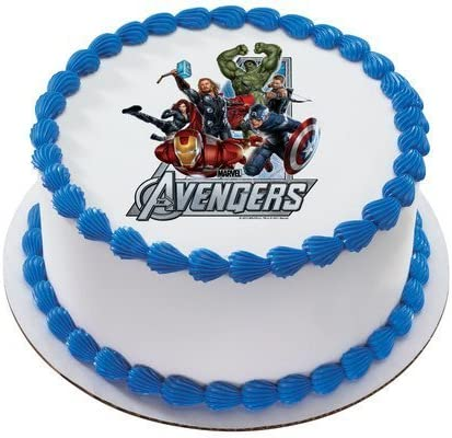 Awesome The Avengers Marvel Super Heroes Personalized Edible Cake Image Funny Birthday Cards Online Alyptdamsfinfo