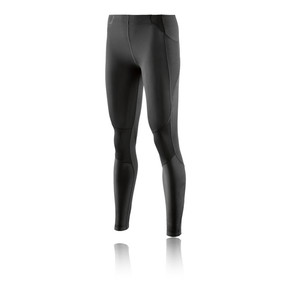 Skins Women's A400Compression Long Tights, Skyscraper Black, Large