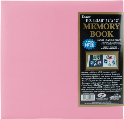 (Pioneer 12 Inch by 12 Inch Pastel Leatherette Postbound Album, Light Pink)