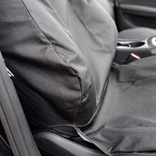 UK Custom Covers SC163 Tailored Front Seat Cover Sleek Fit Black