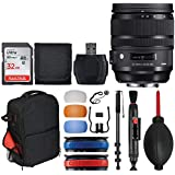 Sigma 24-70mm f/2.8 DG OS HSM Art Lens for Canon EF (576954) + Trolley Backpack + 32GB Memory Card + 72 Monopod + 3 Flash Diffusers + Top Value Lens Accessory Bundle