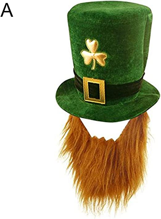 P12cheng Sombrero de San Patricio, Divertido trébol de imitación ...