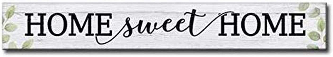 My Word! Our Home is Cluttered with Memories, Overflowing with Love and Perfect for Us Decorative Home Wooden Signs, Cream (74310)