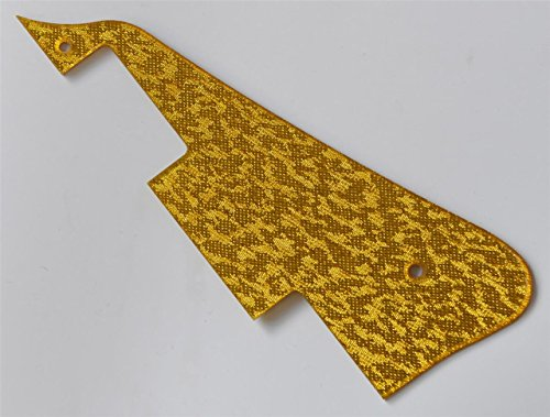 (KAISH Gold Sparkle Plastic LP Guitar Pickguard Scratch Plate Fits Epiphone Les Paul)
