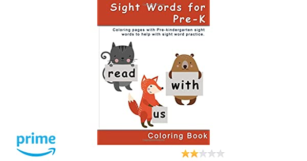 Amazon.com: Sight Words for Pre-K Coloring Book: Coloring pages ...