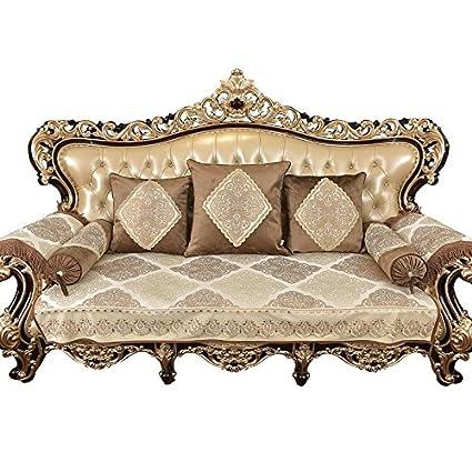 Sideli Sofa Cover Chenille Fabric Sofa Slipcover European Sofa Protector  Non-Slip Sofa Pad Fabric Lace Sofa Cover Sold by Piece Rather Than Set  Custom ...