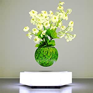 LED Levitating Plants Air Bonsai Pot - Magnetic Levitation Suspension Flower Floating Air Bonsai Pot Potted Plant for Home Office Decor - Gift Option