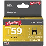 6 Pack BLACK T59 INSULATED STAPLES FOR RG59 QUAD & RG6, 1/4'' X 5/16'', 300 PK (Catalog Category: TOOLS / TOOLS)