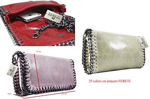 FERETI borsa nero di rettili serpente a tracolla con catena vera pelle Manchester Gran Venta En Línea Pagar Con Visa De Precio Barato UZMRwH