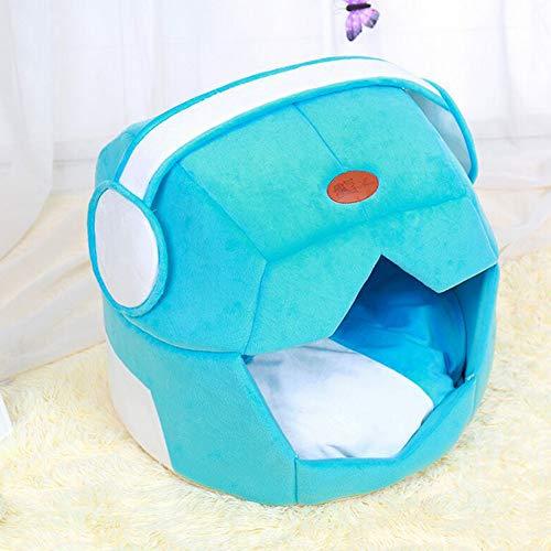 XDYFF Cálido caseta de Mascota Cachorro casa de Peluche Perro Space Hat Creativo de Doble Uso para Mascotas colchoneta de...