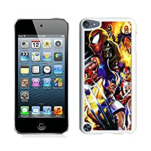 New Fashion Custom Designed Cover Case For iPod 5 With marvel vs capcom White Phone Case