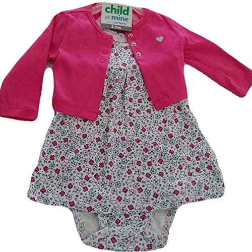 Carter's Child of Mine Flower Jumpsuit with Cardigan (3-6 Months) (Carters Child Mine)