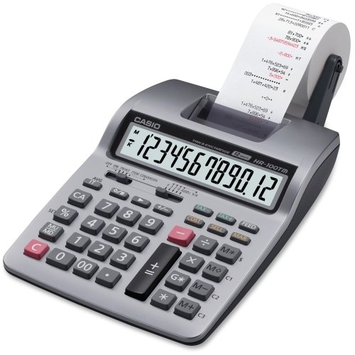 Casio Printing Calculator - 12 Character(s) - Power Adapter, Battery Powered by Casio